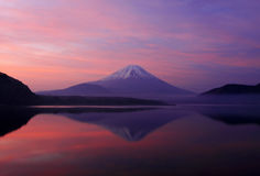 fuji god morgon mt Arkivfoto