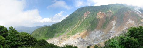 Fuji-Hakone park's beautiful sulphuric deposits Stock Photos
