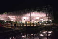 Fuji Hana in Ashikaga-park Royalty-vrije Stock Fotografie