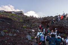 Fuji Hiking Royalty Free Stock Image