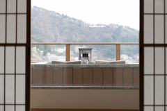Fuji in Japan en onzen Stock Foto