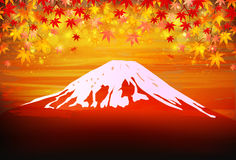 Fuji landscape greeting cards. Background illustration of a pretty landscape stock illustration