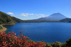 Fuji from Motosuko Lake. View of Fuiji Mountain in Japan from Motosuko Lake, which the similar view printed on Yen note Stock Images