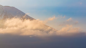Fuji mount close up with sunset tone Royalty Free Stock Image