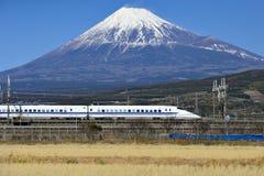 Free Fuji Mountain And Shinkansen Bullet Train Royalty Free Stock Images - 91084919