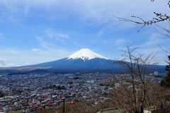 Fuji. Mountain with the blue sky Stock Photo