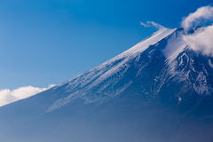 Fuji mountain close up snow covered on top Stock Photography