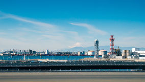 Fuji mountain and japan industry zone Royalty Free Stock Image