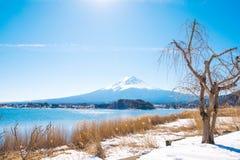 Fuji mountain from Kawaguchiko lake Stock Photo
