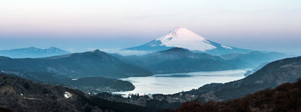Fuji Mountain Lake Hakone Sunrise Royalty Free Stock Photos