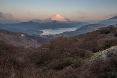 Fuji Mountain Lake Hakone Sunrise Royalty Free Stock Photo
