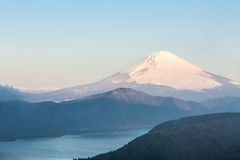 Fuji Mountain Lake Hakone Sunrise Royalty Free Stock Images