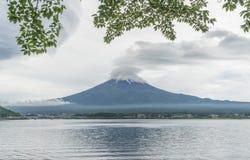 Fuji Mountain and lake Kawaguchiko, Yamanashi Japan.  Stock Images