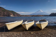 Fuji Mountain at Lake Saiko. Yamanashi, Japan Royalty Free Stock Images