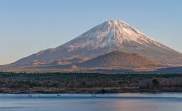 Fuji mountain and lake Shoji in autumn season. Fuji mountain and lake Shoji in autumn season, Japan Stock Photography