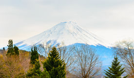 Fuji mountain in late winter,Japan. Royalty Free Stock Photography