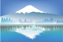 Fuji mountain with reflection water Royalty Free Stock Photography