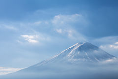 Fuji mountain with show covered on Top, close up, Japan Royalty Free Stock Photography