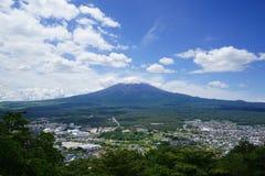 Fuji Mountain at lake Kawaguchi, Japan stock photo
