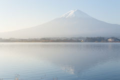 Fuji mountain at sunrise from Kawaguchiko lake Stock Images