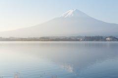 Fuji mountain at sunrise from Kawaguchiko lake Stock Images