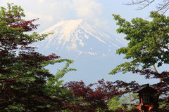 Fuji Mountain, UNESCO World Heritage Site, is one of the most fa. Mous tourist destinations in Japan Stock Photos
