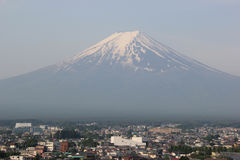 Fuji Mountain. UNESCO World Heritage Site, is one of the most famous tourist destinations in Japan Royalty Free Stock Photo