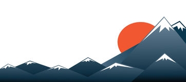 Fuji mountain vector background Royalty Free Stock Image