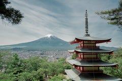 Fuji mountain view from kawaguchiko lake side royalty free stock photo