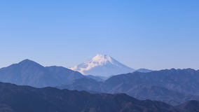 Fuji Mountain view from Takao Mountain Stock Photos