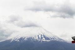 Fuji mountain viewed from behind Chureito Pagoda Royalty Free Stock Images