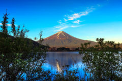 Fuji moutain in autumn on sunshine, Tokyo, Japan. Fuji moutain in autumn on sunshine and blue sky, Tokyo, Japan royalty free stock photo