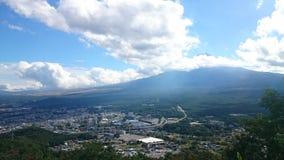 Fuji-moutain higt Standpunkt Lizenzfreie Stockfotos