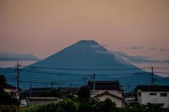 Fuji moutain på ferie Arkivfoton