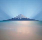 fuji mt över soluppgång Arkivbild
