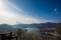Fuji nel lago Kawaguchiko immagine stock