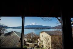 Fuji no lago Kawaguchiko fotografia de stock