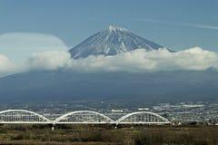 Fuji od shinkansen Obrazy Royalty Free