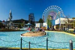 Fuji-q Hooglandpretpark, Yamanashi Stock Foto