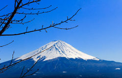 Fuji San in de winter, Japan royalty-vrije stock foto