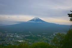 Fuji san. Fuji mount kawaguchiko japan in cloundy time royalty free stock photo