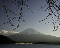Fuji san #6. Mt. Fuji from Lake Kawaguchi Stock Photo