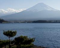 Fuji san #7. Mt. Fuji from Lake Kawaguchi Stock Photography