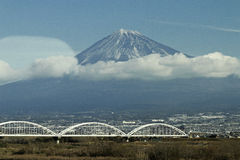 Fuji from shinkansen Royalty Free Stock Images