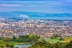 Fuji, Shizuoka, Japan. Town skyline Stock Photo