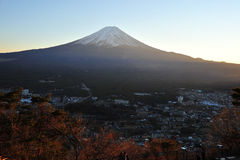 Fuji sunset Royalty Free Stock Image