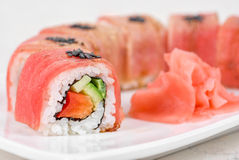 Fuji Sushi rolls Stock Photography