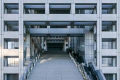 Fuji T V hoofdkwartier in Odaiba, Tokyo, Japan Stock Afbeeldingen