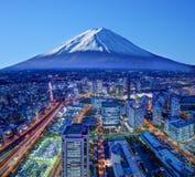 Fuji und Yokohama Stockfotografie