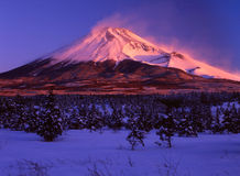 Fuji van MT Stock Foto's